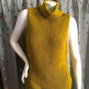 Kate Hill Wool Sleeveless turtleneck Sweater